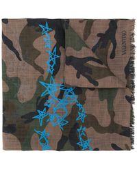 Valentino - Garavani Camouflage & Stars Scarf - Lyst