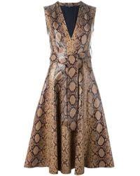 Alexander McQueen - Python Print Dress - Lyst