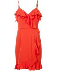 Trina Turk - Ruffle Trim Dress - Lyst
