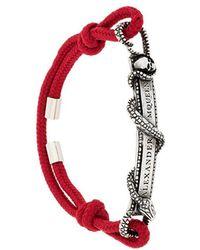 Alexander McQueen - Snake Logo Plaque Bracelet - Lyst