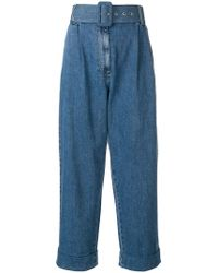 Isa Arfen - High-waisted Belted Jeans - Lyst