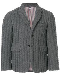 Thom Browne - Baby Cable Cashmere Sport Coat - Lyst