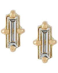 Wouters & Hendrix - 'baguette' Diamond Earrings - Lyst