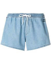 Être Cécile - Denim Side Band Shorts - Lyst