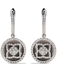 De Beers - 18kt White Gold Enchanted Lotus Mother-of-pearl And Diamond Sleeper Earrings - Lyst