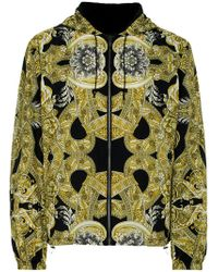 Versace Reversible Baroque Bomber Jacket In Black For Men Lyst