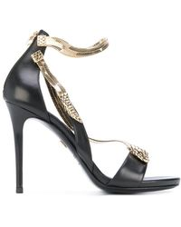 7d95ecbc5db317 Roberto Cavalli - Snake Motif Stiletto Sandals - Lyst