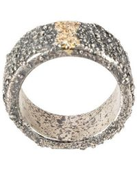 Tobias Wistisen - Small Gold Line Ring - Lyst
