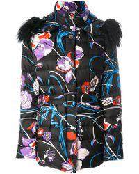 Emilio Pucci - Fur-trim Floral Coat - Lyst