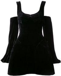 Vera Wang - Cold Shoulder Flared Dress - Lyst