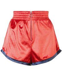 Fleur du Mal - Zip Front Shorts - Lyst