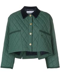 Carven - Quilted Cropped Jacket - Lyst