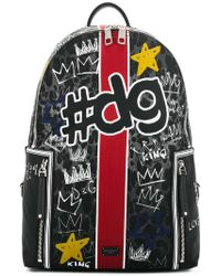 Dolce & Gabbana - Graffiti Backpack - Lyst