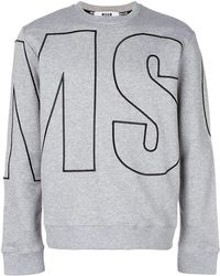 MSGM - Logo Embroidered Sweatshirt - Lyst