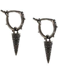 FEDERICA TOSI - Crystal Embellished Thorn Drop Earrings - Lyst
