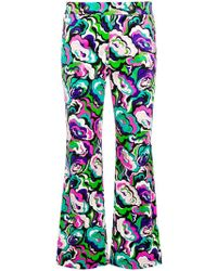 Emilio Pucci - Cropped Flared Trousers - Lyst
