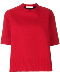 Marni - Short Sleeve Knitted Top - Lyst