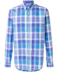 Etro - Check Shirt - Lyst