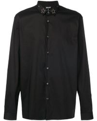 Just Cavalli - Star Studded Collar Shirt - Lyst