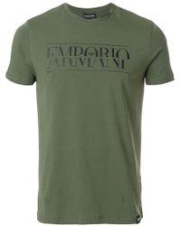 Emporio Armani | Logo Print T-shirt | Lyst