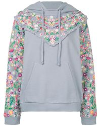 Needle & Thread - Floral Embroidered Hoodie - Lyst