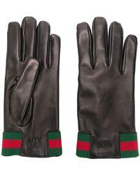 Gucci - Handschuhe mit Web - Lyst