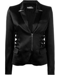 Jeremy Scott - Zip & Strap Detail Blazer - Lyst