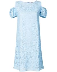 Blugirl Blumarine - Embroidered Cold Shoulder Dress - Lyst