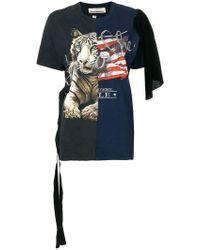 Night Market - Embellished Printed T-shirt - Lyst