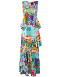 House of Holland - Ruffled Printed Dress - Lyst