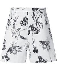 Andrea Marques - Floral Shorts - Lyst