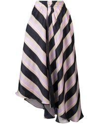 Apiece Apart - Asymmetric Striped Skirt - Lyst