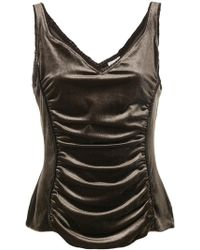 Armani - Ruched Front Tank Top - Lyst