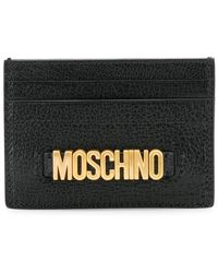 Moschino - Logo Plaque Cardholder - Lyst