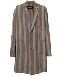 Uma Wang - Striped Single Breasted Coat - Lyst