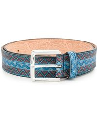 Etro - Printed Belt - Lyst