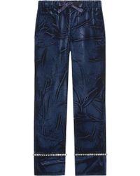Gucci - Velvet Pyjama Trousers - Lyst