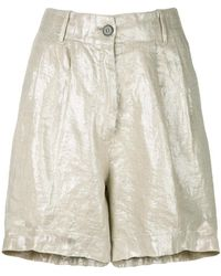 Forte Forte - Metallic Fitted Shorts - Lyst