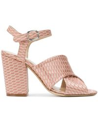Strategia - Ankle Strap Peep Toe Sandals - Lyst