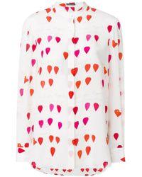 Alexander McQueen - Heart Print Shirt - Lyst