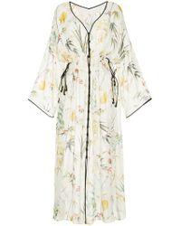 Mame - Floral Print Plunge Neck Dress - Lyst