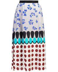 Novis - Patterned Straight Skirt - Lyst