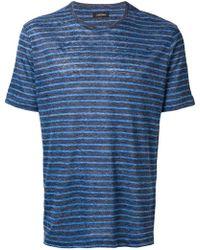 Z Zegna - Striped T-shirt - Lyst