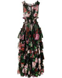 cb0807ba8f Dolce & Gabbana - Vestido de noche con estampado floral - Lyst