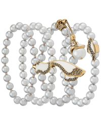 Camila Klein - Pearl Four-bracelets Set - Lyst