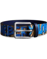Burberry - Cintura a quadri con graffiti - Lyst