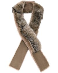 32 Paradis Sprung Freres - Fox Fur And Shearling Scarf - Lyst