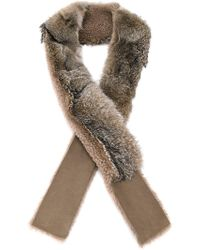 32 Paradis Sprung Freres | Fox Fur And Shearling Scarf | Lyst