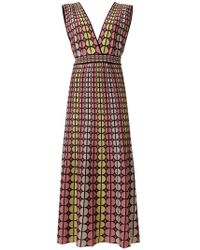 M Missoni - Circle Print Dress - Lyst