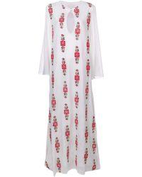 Carolina K - Printed Longsleeved Maxi Dress - Lyst